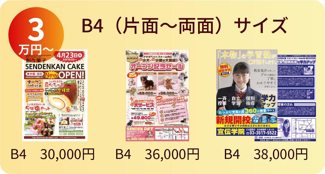 B4サイズ 3万円〜