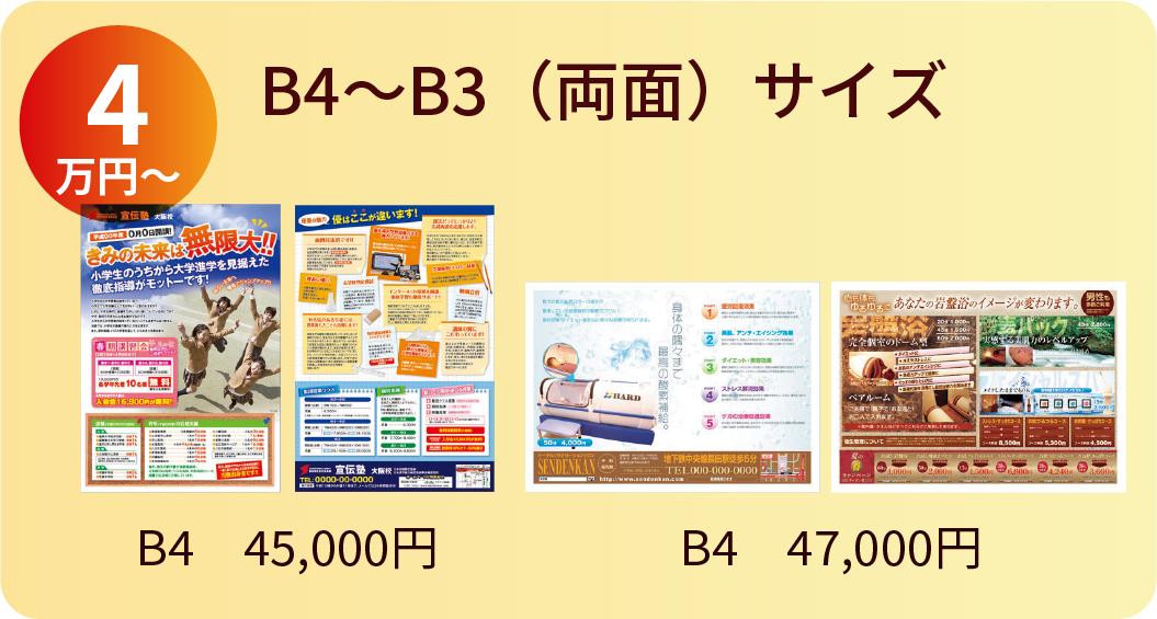B4〜B3サイズ 4万円〜